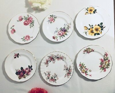 Vintage Cake Plates - 6 assorted pre-owned, lovely condition