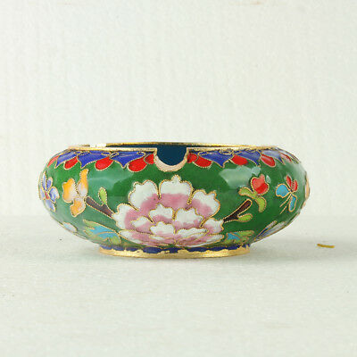 Chinese Cloisonne Handmade Flowers Ashtray JTL1065+a