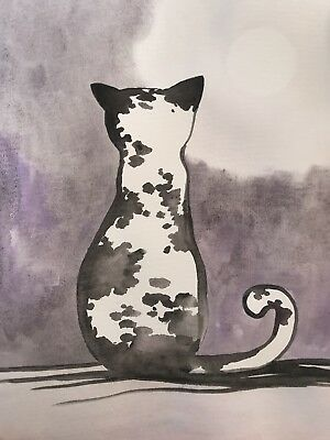 Free Post. The Right Time Is Right Now. Sienna Mayfair Original Cat Painting