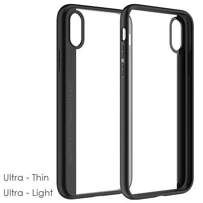 Ultra Thin Transparent Case Cover Anti-scratch Protective Shell for iPhone X Xs