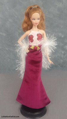 Two Hearts Gown 4 Barbie Dress Model Muse Shoes Shawl USA Seller Handmade #B106