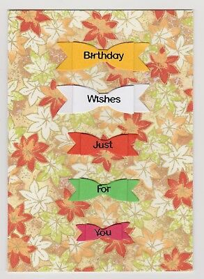 Blank Handmade Greeting Card ~ BIRTHDAY WISHES JUST FOR YOU on BOWS ~
