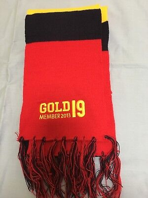 AFL Adeladide Crows Gold 19 Member 2013 Scarf - 1300mm x 170mm