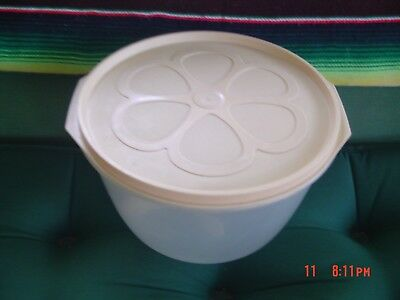 Vintage Rubbermaid Daisy Window 12 Cup Lettuce Keeper Bowl Container w/Insert