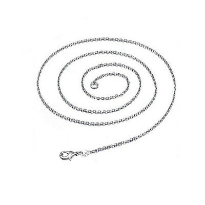 925 Sterling Silver Plated Chain Women Men Necklace 16''-24'' New Lot Jewelry