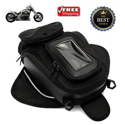 Universal Magnetic Motorcycle Motorbike Oil Fuel Tank Bag Travel Saddle Bag US