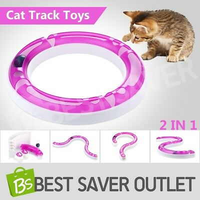 Interactive Cat Track and Ball Play Toys Pet Track Ball Kitten Training Senses