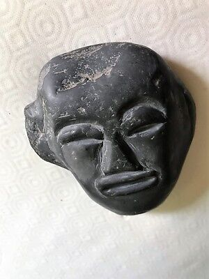 Face Mask of a Man in stone very Antique could be South America or Africa