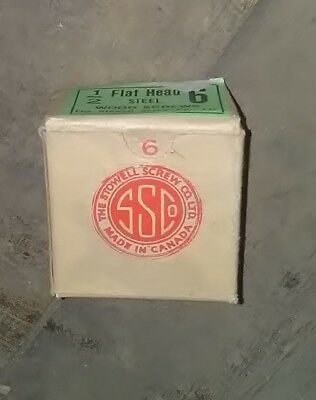 "Box of Deadstock 1940s Vintage NO. 6 1/2 "" Slot head Wood Screws"