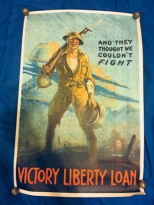 "WWI Victory Loan Poster ""They Thought We Couldnt Fight"""