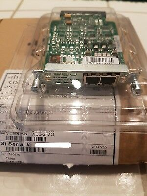 Cisco VIC2-2FXO 2-Port Voice Interface Card (New Opened Box)