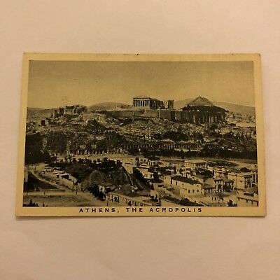 Wills Embassy Cigarette Card Round Europe #29 Athens