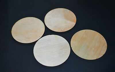 "Crafting Supplies 250pc. Laser cut wood Circles 3.5"" round Disc Blank cutout"