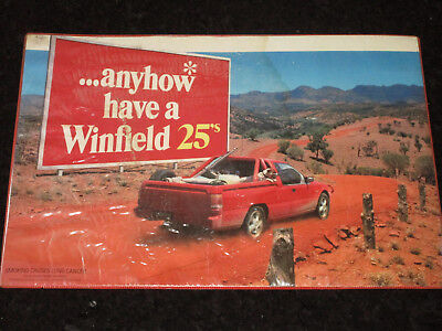 Winfield Cigaretts Counter Top Advertising Placemat Milk Bar Store 1980s 1990s