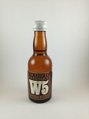 W5 Double-U-Five Whisky Italian Import Circa 1978  Miniature