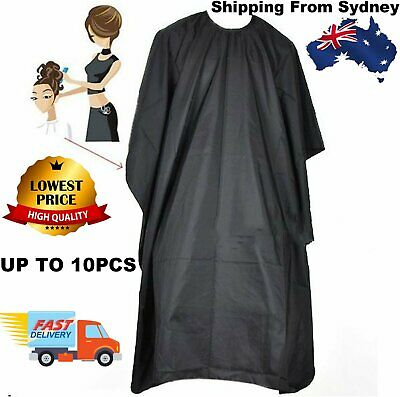 Pro Black Hair Cutting Cape Hairdressing Gown Barber Salon Cloth Nylon Styling