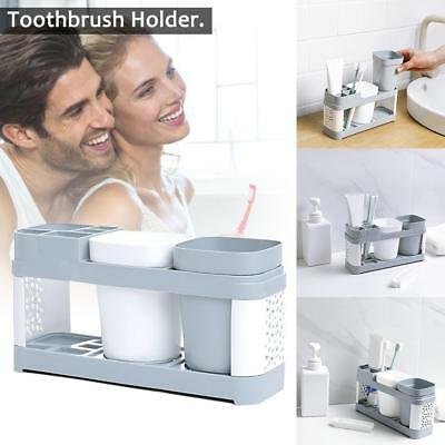 Nordic Bathroom Toothbrush Holder Stand Set Plastic Cup Toothpaste Storage Rack