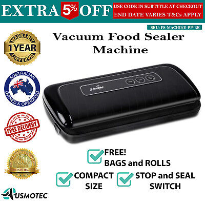 Vacuum Sealing Sealer Food Storage Machine Cryovac Packaging System Black New