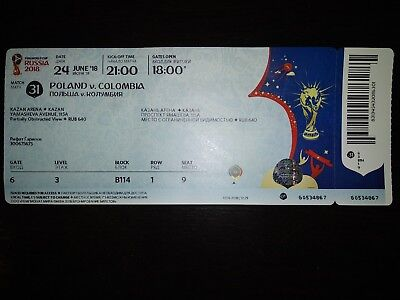 Used Ticket #31 WC 2018 Coupe du Monde Poland- Colombia