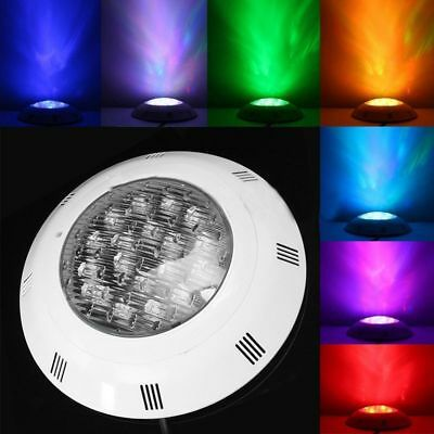 7 Colors 24V 18W LED RGB Underwater Swimming Pool Bright Light /Remote Cont P4N5
