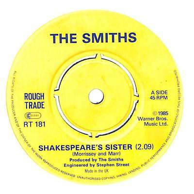 "The Smiths - Shakespeare's Sister - 7"" Record Single"