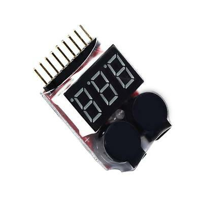 RC Lipo Battery Low Voltage 1-8S Buzzer Indicator Checker Tester LE Alarm au