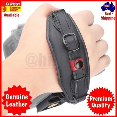 Leather Wrist Hand Strap Band with Metal Base for DSLR Canon Nikon Camera Kits