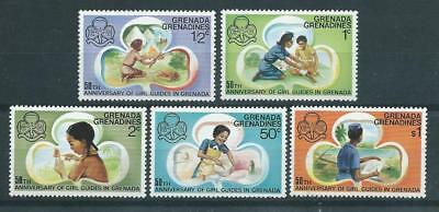 Grenadines SG163-167 1976 50th Anniversary of Girl Guides Unhinged Mint