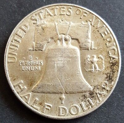 United States 1960 D Franklin half dollar