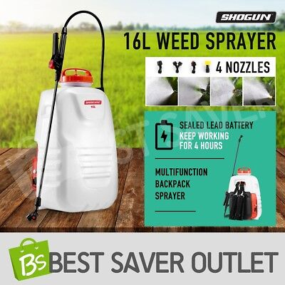 16L Electric Backpack Weed Sprayer 12V Rechargeable Pump Watering Garden Farm