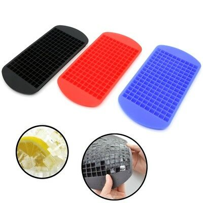 2PCS Silicone 160Cavity Mini Square DIY Ice Cube Tray Maker Mold Mould UK SELLER
