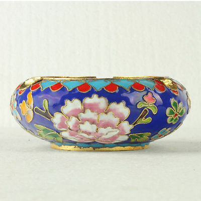 Chinese Cloisonne Handmade Flowers Ashtray