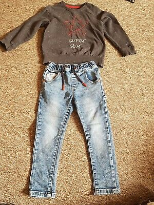 boys super star next outfit 3-4 jeans jumper