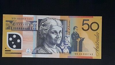 $50 MD08 Last Prefix - Lowest Production run for any $50 Polymer Note UNC