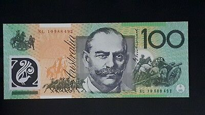 $100 EL10 Last Prefix, Lowest Production run for any $100 Polymer Note UNC