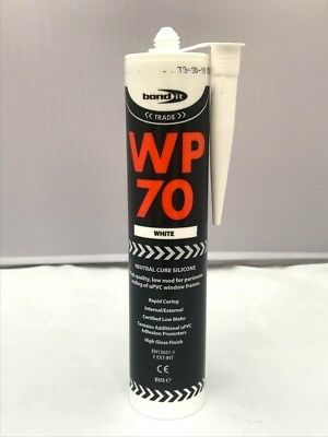 Silicone Sealant Bond It WP70 LMN White Clear and VARIOUS COLOURS & Nozzel