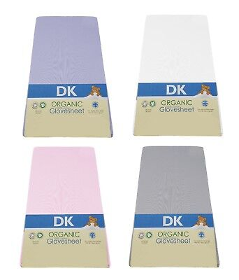 DK Glovesheets GOTS Certified 100% Organic Cotton  Fitted Cot Sheet 120 x 60 cm