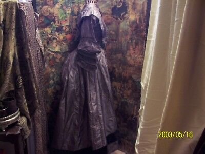 A antique, victorian bodice, and skirt. antique clothing