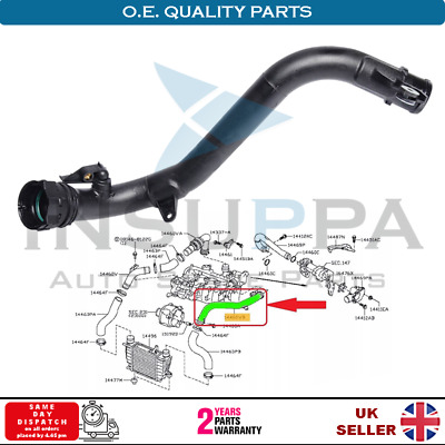 Turbo Intercooler Pipe Fits Nissan Juke Nv200 Evalia Cube 1.5 Dci 144601Fe1C
