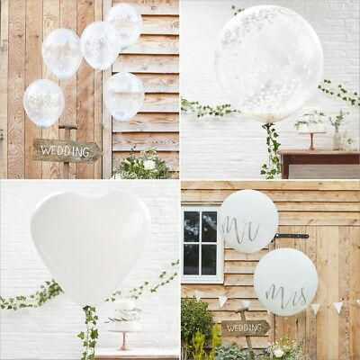 White Latex Balloons Wedding Party Decoration High Quality Helium Balloons - S/L