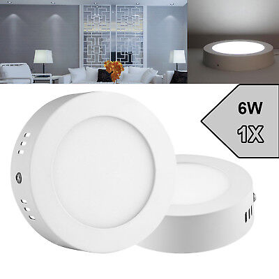 6W Round Surface Mounted LED Panel Light Ceiling Down Light Neutral White