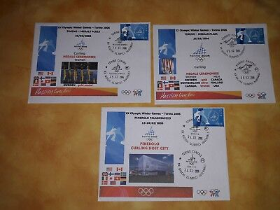 Curling complete olympic fdc cover Torino 2006 no korea