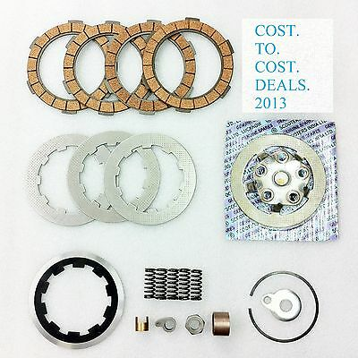 Lambretta Clutch Kit for 4 Plate set up- Flange,Plates,Springs,Corks,etc NEW
