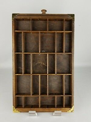 Antique Typeset Drawer Wall Hanging Sectioned
