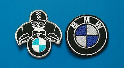 3 VALUE LOT BMW MOTORCYCLE AVERAGE 3 INCH Easy Iron/Sew On Patches FREE SHIP