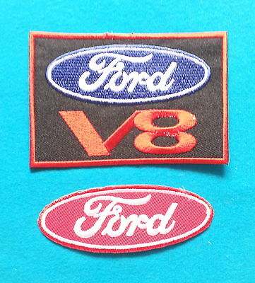 2 LOT FORD Embrodered Iron Or Sewn On Patches W/ FREE SHIP