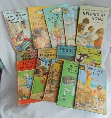 COLLECTION OF 14 VINTAGE LADYBIRD BOOKS well loved tales nursery rhymes etc 1960