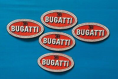 5 VALUE LOT BUGATTI Easy Iron/Sew On Embroidered Patches FREE SHIP