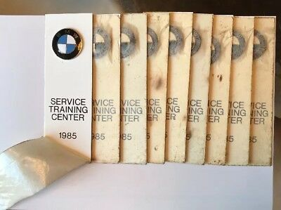 Vintage BMW 1985 Service Training Center Emblems White Metal Backings LOT 9 NEW
