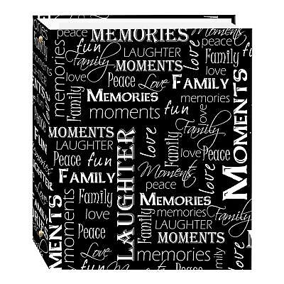 Magnetic Self-Stick 3-Ring Photo Album 100 Pages (50 Sheets), Black & White